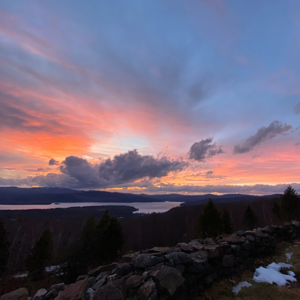 Sunset over Newfound Lake, NH