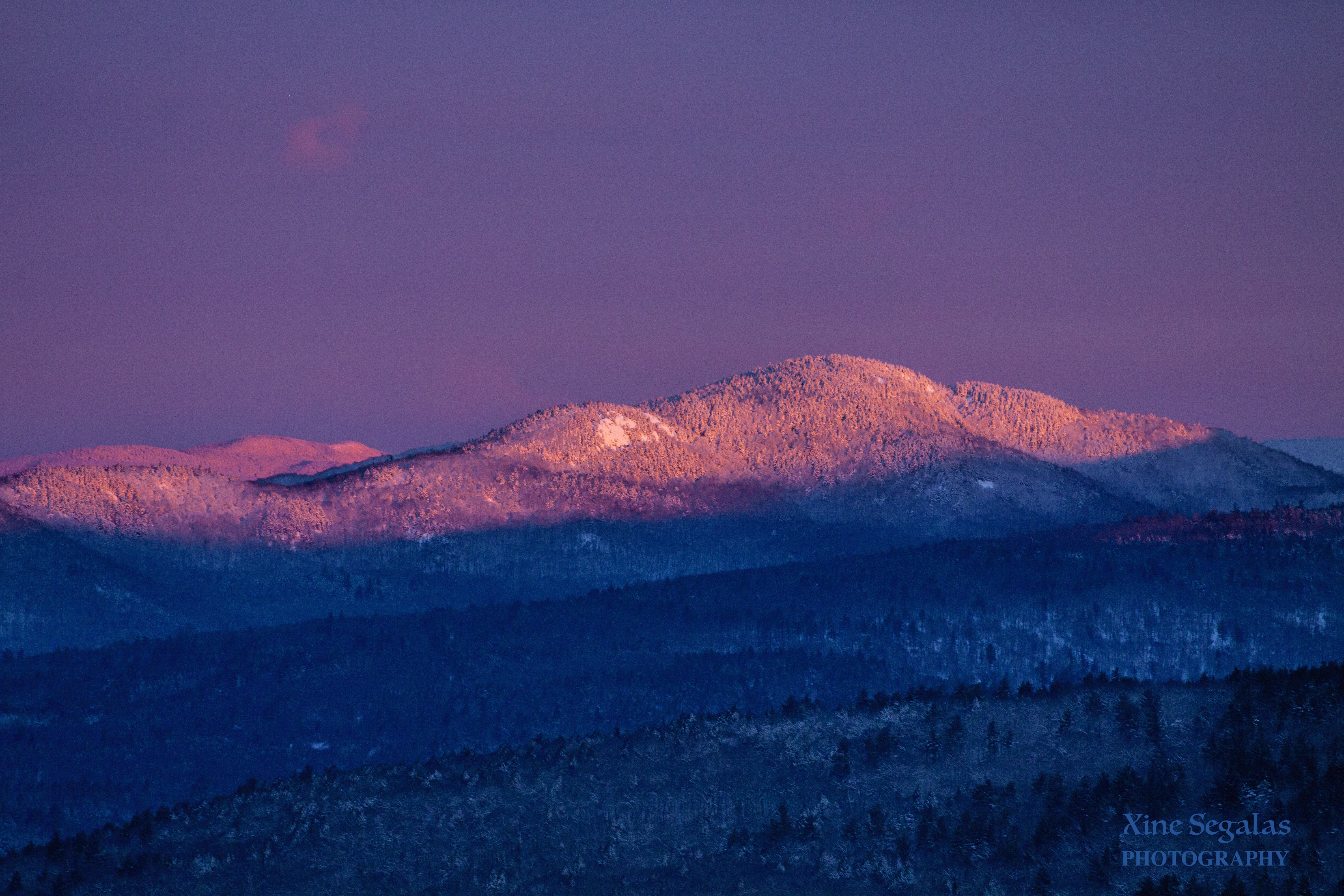 Mount Crosby and Bald Knob in the morning sun